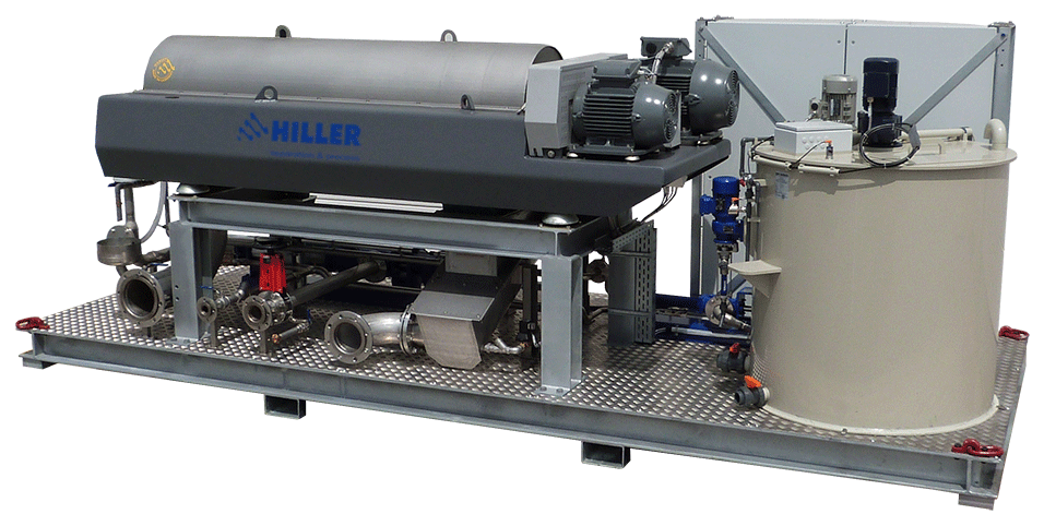 Hiller DecaSmart decanter plant, the compact industrial wastewater treatment plant