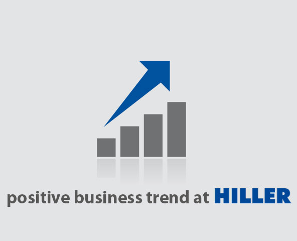 Positive business trend at Hiller