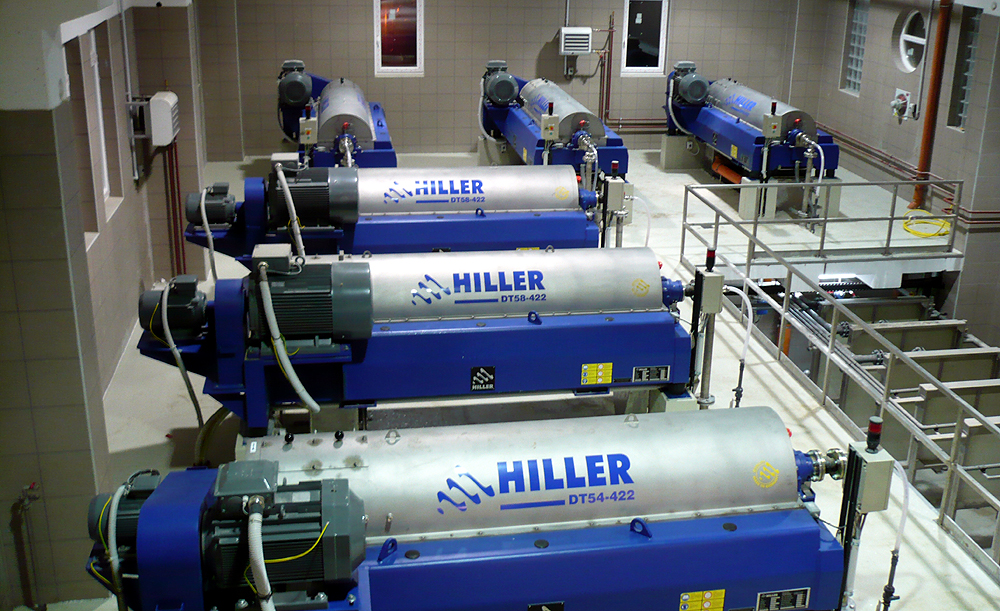 Hiller DecaPress Decanters for Sludge dewatering & thickening at WWTP Debrecen